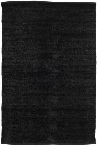 Kilim Chenille - Carbon Black Rug 120X180 Authentic  Oriental Handwoven Black ( India)