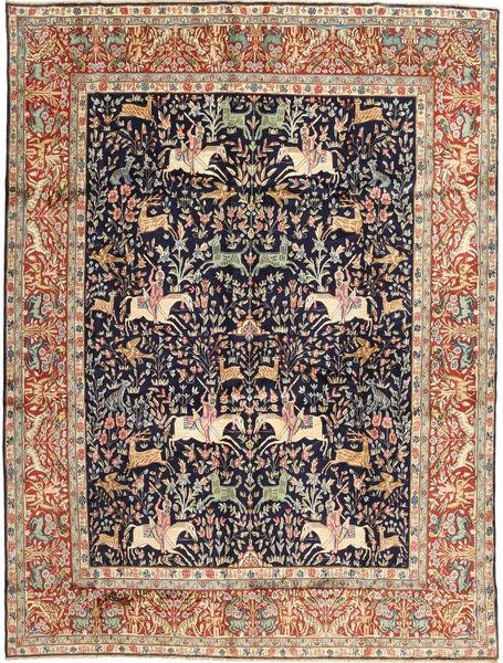 Kerman Matto 293X390 Itämainen Käsinsolmittu Ruskea/Tummanvioletti Isot (Villa, Persia/Iran)