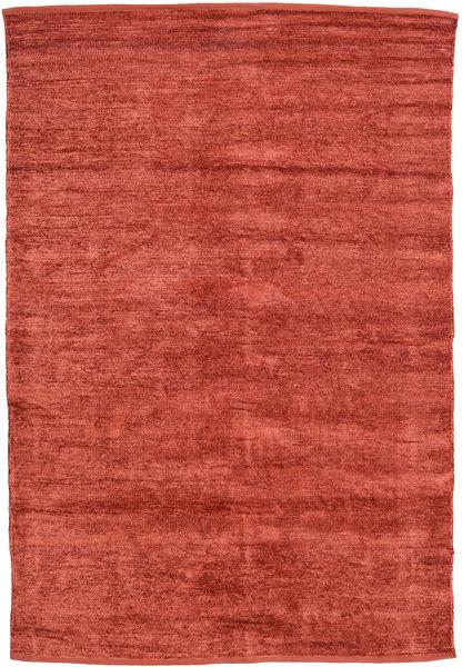 Kilim Chenilla - Coppery_ Alfombra 140X200 Oriental Tejida A Mano Óxido/Roja/Rojo Oscuro ( India)