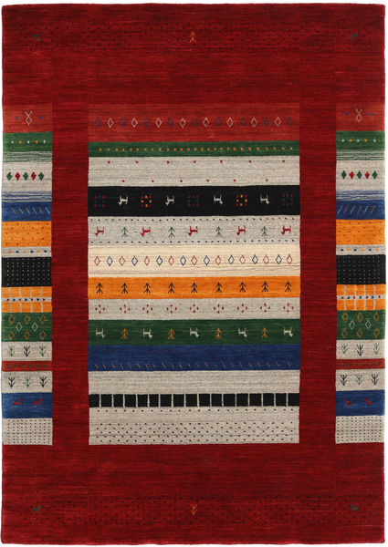 Loribaf Loom Designer Rug 160X230 Authentic  Modern Handknotted Dark Red/Light Grey (Wool, India)