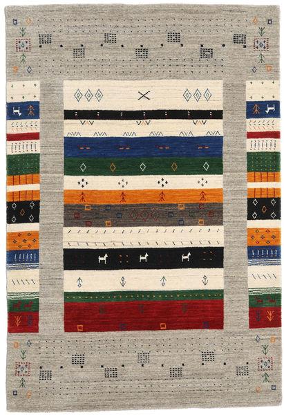 Loribaf Loom Designer Matto 120X180 Moderni Käsinsolmittu Vaaleanruskea/Tumma Turkoosi (Villa, Intia)