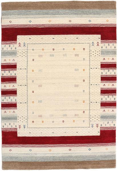 Loribaf Loom Designer Rug 120X180 Authentic  Modern Handknotted Beige/Dark Red (Wool, India)