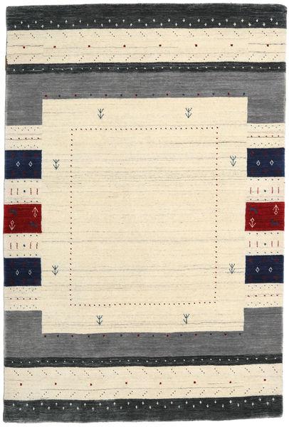 Loribaf Loom Designer Tapijt 120X180 Echt Modern Handgeknoopt Beige/Donkerblauw (Wol, India)