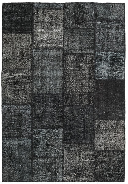 Patchwork Rug 160X231 Authentic  Modern Handknotted Black/Dark Grey (Wool, Turkey)