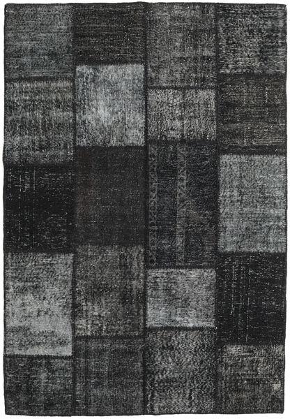 Patchwork Rug 158X231 Authentic  Modern Handknotted Dark Grey/Black (Wool, Turkey)