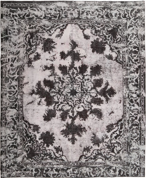 Colored Vintage Rug 293X357 Authentic  Modern Handknotted Light Grey/Black/Dark Grey Large (Wool, Persia/Iran)