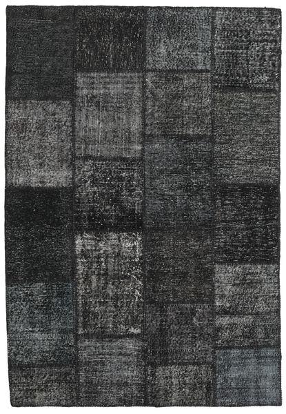 Patchwork Rug 158X232 Authentic  Modern Handknotted Dark Grey (Wool, Turkey)
