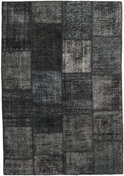 Patchwork Rug 160X231 Authentic  Modern Handknotted Dark Grey (Wool, Turkey)