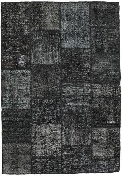 Patchwork Alfombra 159X230 Moderna Hecha A Mano Gris Oscuro/Negro (Lana, Turquía)