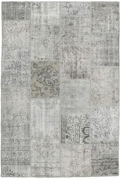 Patchwork Matto 159X233 Moderni Käsinsolmittu Vaaleanharmaa (Villa, Turkki)