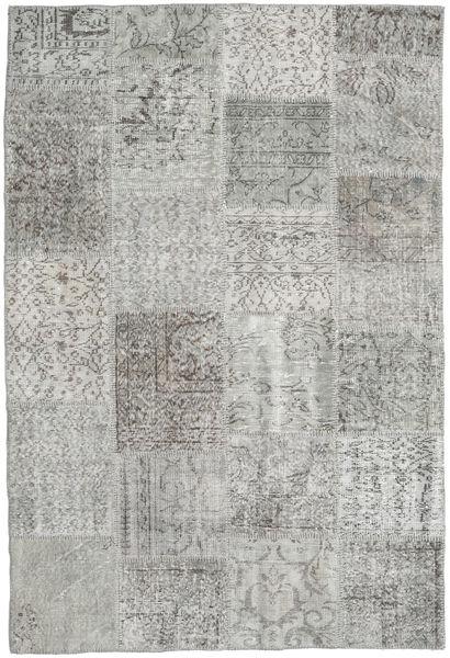 Patchwork Rug 157X233 Authentic  Modern Handknotted Light Grey/Dark Grey (Wool, Turkey)