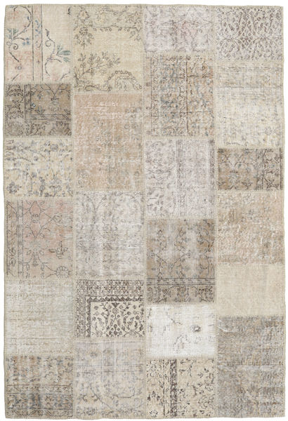 Patchwork Rug 158X233 Authentic  Modern Handknotted Light Grey/Light Brown (Wool, Turkey)