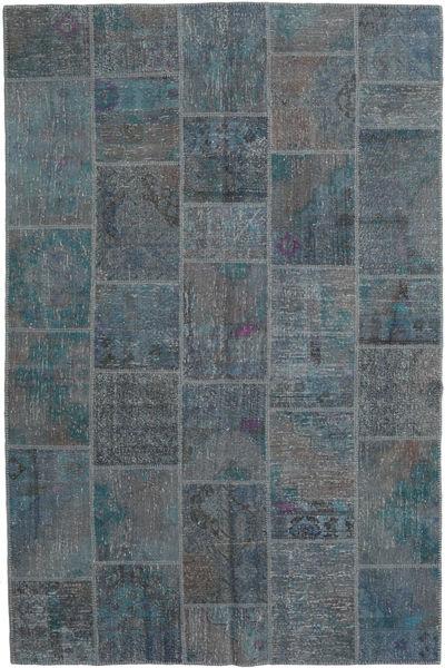 パッチワーク 絨毯 198X301 モダン 手織り 濃いグレー/薄い灰色 (ウール, トルコ)