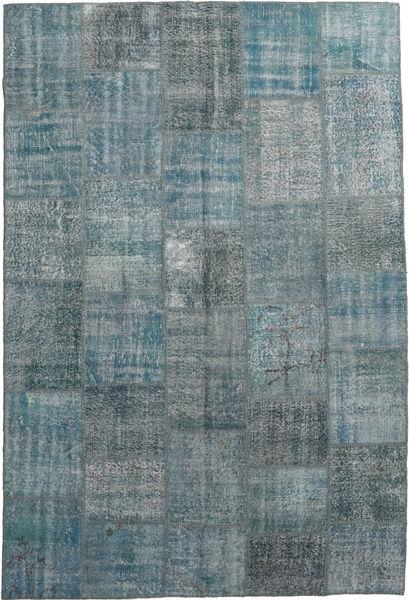 Patchwork Rug 200X300 Authentic  Modern Handknotted Light Grey/Dark Grey/Blue (Wool, Turkey)