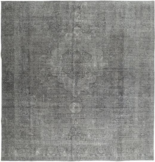 Colored Vintage Teppe 285X300 Ekte Moderne Håndknyttet Kvadratisk Mørk Grå/Lys Grå Stort (Ull, Persia/Iran)