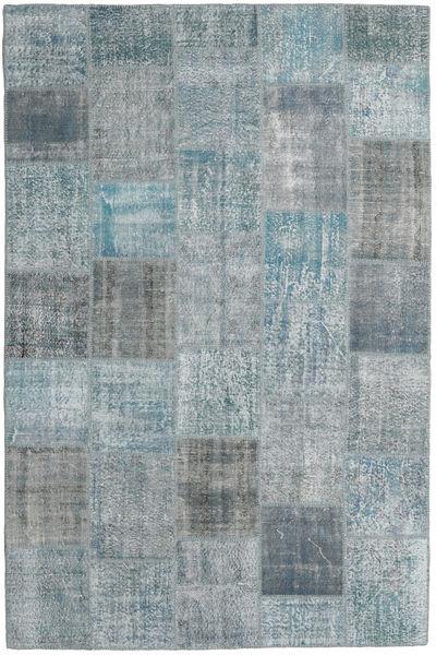 Patchwork Rug 199X302 Authentic  Modern Handknotted Light Grey/Dark Grey (Wool, Turkey)