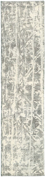 Colored Vintage Rug 70X292 Authentic  Modern Handknotted Hallway Runner  Light Grey/Beige (Wool, Persia/Iran)