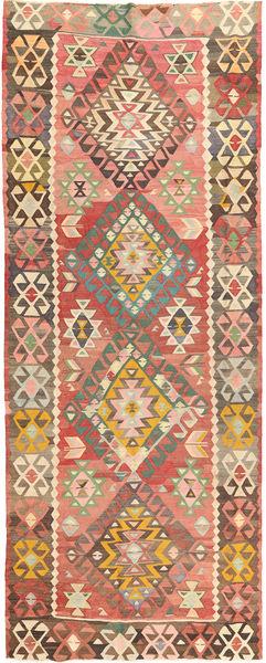 Kelim Fars Matto 168X420 Itämainen Käsinkudottu Käytävämatto Vaaleanruskea/Tummanharmaa (Villa, Persia/Iran)