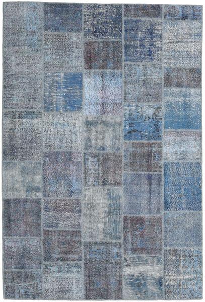 Patchwork Rug 198X296 Authentic  Modern Handknotted Blue/Light Grey (Wool, Turkey)