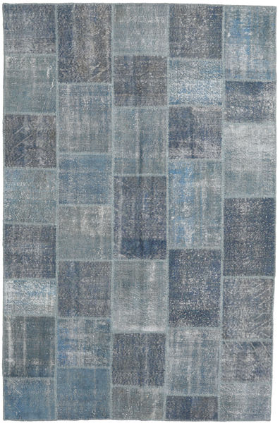 Patchwork Rug 196X304 Authentic  Modern Handknotted Light Grey/Dark Grey (Wool, Turkey)