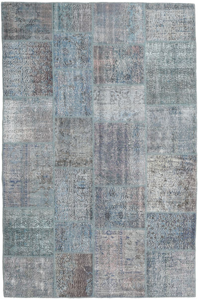Patchwork Rug 195X298 Authentic  Modern Handknotted Light Grey/Light Blue/Dark Grey (Wool, Turkey)