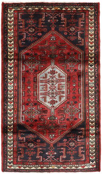 Hamadan Matto 109X190 Itämainen Käsinsolmittu Tummanpunainen/Musta (Villa, Persia/Iran)
