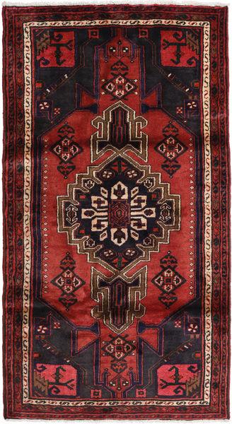 Hamadan Matto 105X200 Itämainen Käsinsolmittu Tummanpunainen (Villa, Persia/Iran)