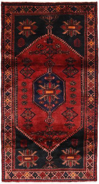 Hamadan Matto 105X198 Itämainen Käsinsolmittu Tummanpunainen (Villa, Persia/Iran)