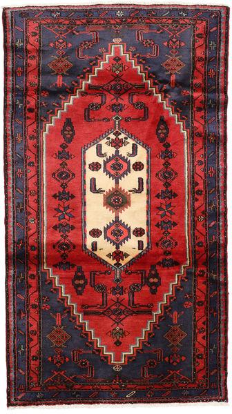 Hamadan Matto 110X190 Itämainen Käsinsolmittu Tummanvihreä/Ruoste (Villa, Persia/Iran)