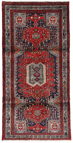 Hamadan Matto 97X197 Itämainen Käsinsolmittu Tummanpunainen/Ruskea (Villa, Persia/Iran)