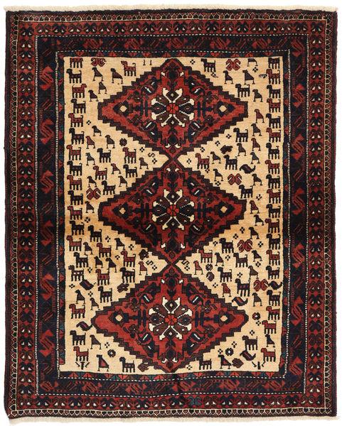 Shiraz Matto 114X140 Itämainen Käsinsolmittu Musta/Ruskea (Villa, Persia/Iran)