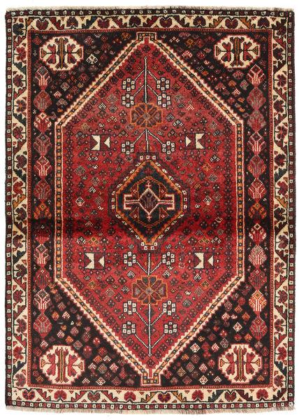 Shiraz Rug 113X155 Authentic  Oriental Handknotted Dark Brown/Dark Red (Wool, Persia/Iran)