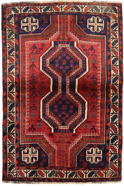 Shiraz Matto 111X162 Itämainen Käsinsolmittu Tummanvioletti/Tummanpunainen (Villa, Persia/Iran)