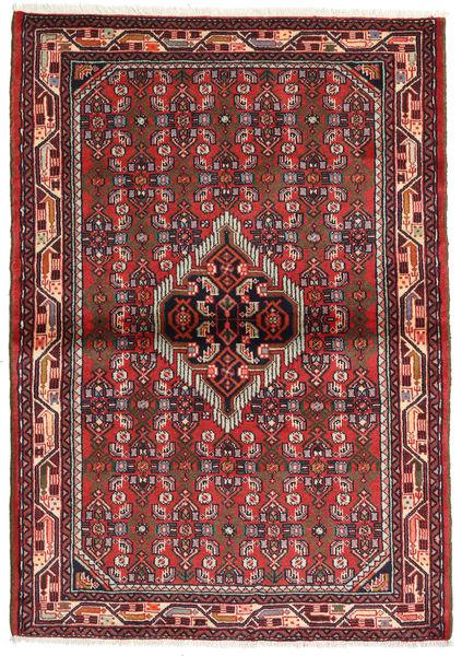 Hamadan Matto 107X152 Itämainen Käsinsolmittu Tummanpunainen/Ruoste (Villa, Persia/Iran)