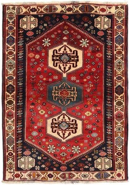 Ghashghai Matto 108X150 Itämainen Käsinsolmittu Tummanpunainen/Musta (Villa, Persia/Iran)