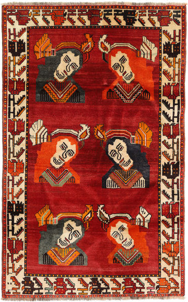 Qashqai Rug 110X178 Authentic  Oriental Handknotted Rust Red/Dark Red (Wool, Persia/Iran)