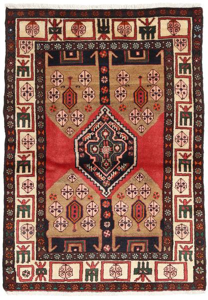 Hamadan Matto 100X150 Itämainen Käsinsolmittu Musta/Tummanruskea (Villa, Persia/Iran)