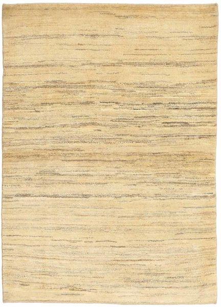 Gabbeh Perzsa Szőnyeg 104X146 Modern Csomózású Sötét Bézs/Sárga (Gyapjú, Perzsia/Irán)