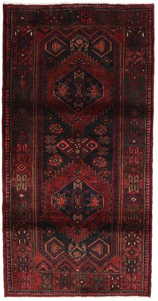 Hamadan Matto 106X210 Itämainen Käsinsolmittu Tummanruskea/Tummanpunainen (Villa, Persia/Iran)