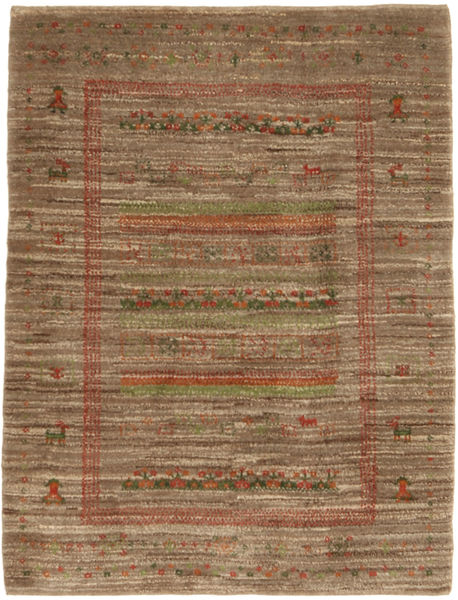 Gabbeh Persia Rug 115X150 Authentic  Modern Handknotted Light Brown/Brown (Wool, Persia/Iran)