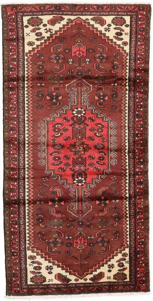 Hamadan Matto 95X187 Itämainen Käsinsolmittu Tummanruskea/Ruskea (Villa, Persia/Iran)