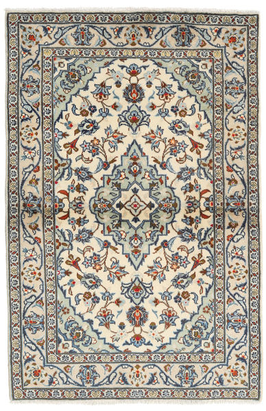 Keshan Rug 98X150 Authentic  Oriental Handknotted Beige/Light Grey (Wool, Persia/Iran)