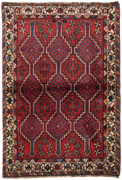 Sziraz Dywan 100X145 Orientalny Tkany Ręcznie Ciemnoczerwony/Brązowy (Wełna, Persja/Iran)