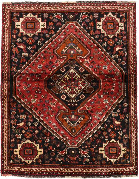 Kaszkaj Dywan 115X146 Orientalny Tkany Ręcznie Ciemnoczerwony/Jasnobrązowy (Wełna, Persja/Iran)