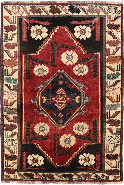 Kaszkaj Dywan 125X182 Orientalny Tkany Ręcznie Ciemnoczerwony/Czarny (Wełna, Persja/Iran)