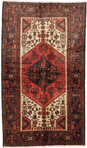 Hamadan Rug 126X218 Authentic  Oriental Handknotted Dark Red/Dark Brown (Wool, Persia/Iran)
