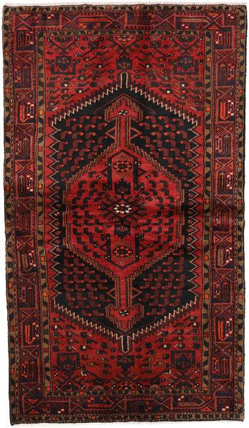 Hamadan Alfombra 126X214 Oriental Hecha A Mano Rojo Oscuro/Marrón Oscuro (Lana, Persia/Irán)