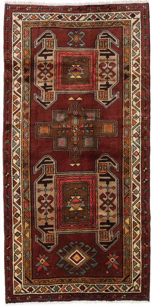 Hamadan Matto 121X245 Itämainen Käsinsolmittu Tummanpunainen/Vaaleanruskea (Villa, Persia/Iran)