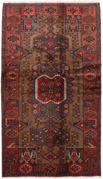 Hamadan Alfombra 115X202 Oriental Hecha A Mano Marrón Oscuro/Rojo Oscuro (Lana, Persia/Irán)
