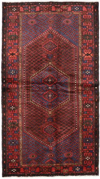 Hamadan Teppe 127X228 Ekte Orientalsk Håndknyttet Mørk Rød/Svart (Ull, Persia/Iran)